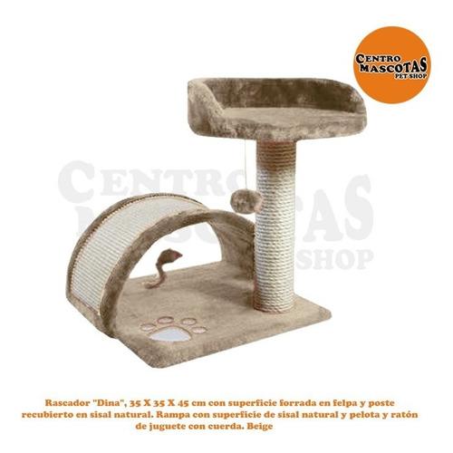 Rascador Arbol Para Gatos Dina Importado 35x35x45 Cm