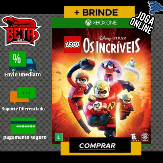 Os Incriveis Lego - Xbox One - Midia Digital + Brinde