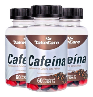 Cafeína - 3x 60 Cápsulas - Take Care