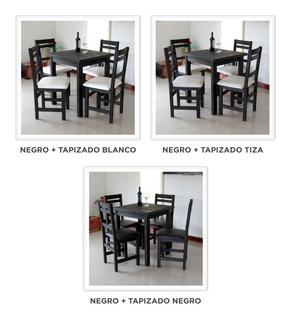 Mesa 70x120 + 4 Sillas Premium Tapizadas