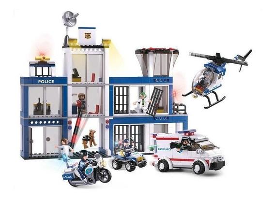 Micro Bloques Estación De Policias 606 Pcs
