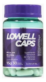 Lowell Caps Vitaminas E Nutrição Capilar 100% Natural -30cps