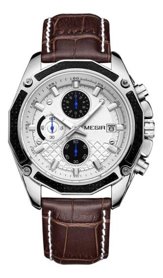 Relógio Masculino Megir 2015 Cronográfo Original
