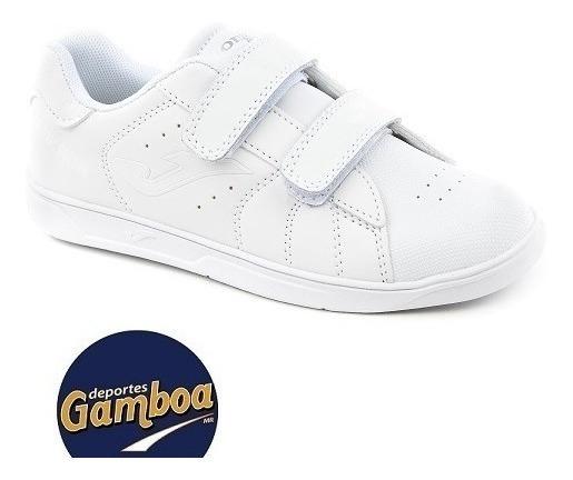 Tenis Escolar Blanco Unisex Joma Ginkana Jr702 Envío Gratis!