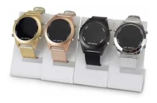 Relógio Feminino Digital Aço Led Watch