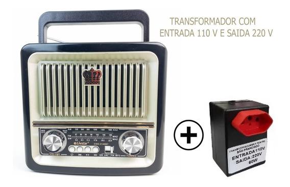 Radio Livstar Cnn-3140bt Bluetooth 220 V + Transformador