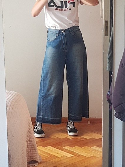 Jeans Cher Tipo Culotte Talle 26 Impecable