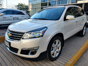 Chevrolet Traverse 3.6 Lt Piel At 2017 Blanca
