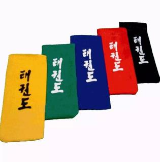 Par De Puntas Cinturon De Taekwon-do Colores En Gol De Oro