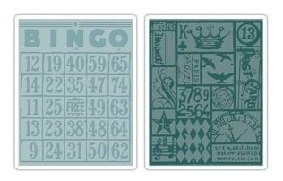 Carpeta De Repujado -embossing Folder- Bingo & Patchwork Set