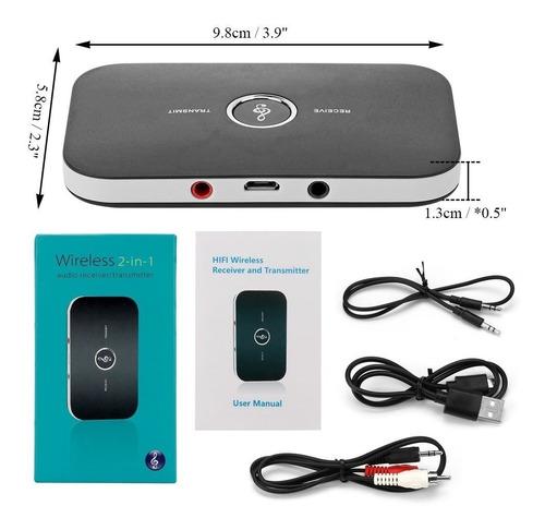 Imagem 1 de 8 de Receptor E Transmissor Bluetooth 2-in-1- 4.1 Wireless 835