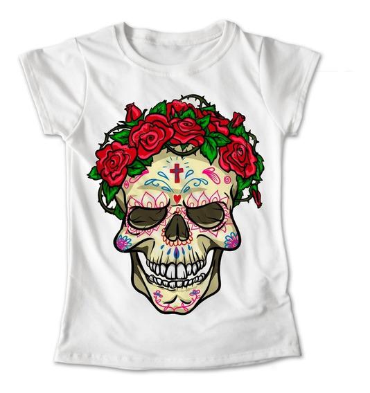 Blusa Colores Playera Flores Calaveras Dia De Muertos #275