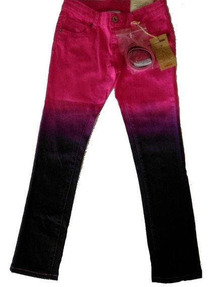 Calça Jeans Marisol Com Cinto E Cintura Ajustável - Menina
