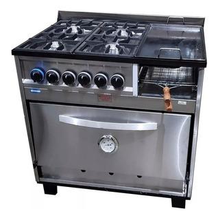 Cocina Tecnocalor 4 H + Plancha Tostador 86 Cm Ahora 12 18