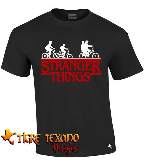 Playera Series Stranger Things Mod 02 Tigre Texano Designs