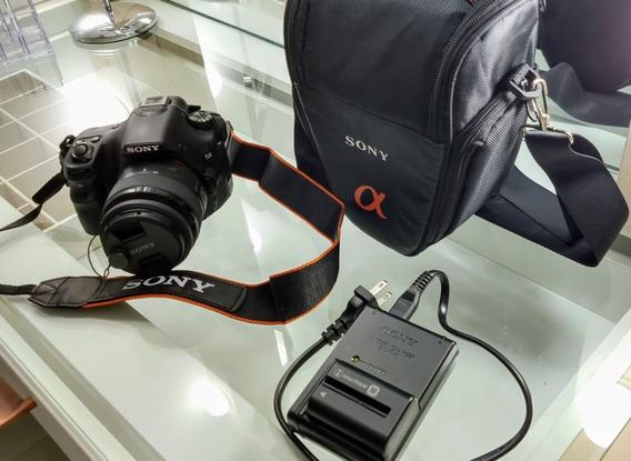 Câmera Máquina Fotográfica Digital Sony Alpha Slt-a58 + Case