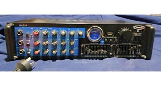 Consola Amplificada - 3 Canales Usb Rca Sd 600w Profesional