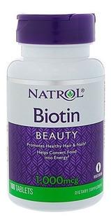 Biotina 10,000mcg 100 Tablets Natrol Importada Eua
