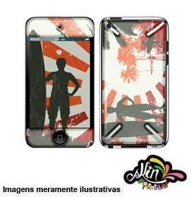 Adesivo 3d Skin Para iPod Touch 4 Surf 1