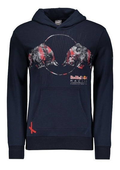 Moletom Puma Red Bull Racing Graphic Marinho