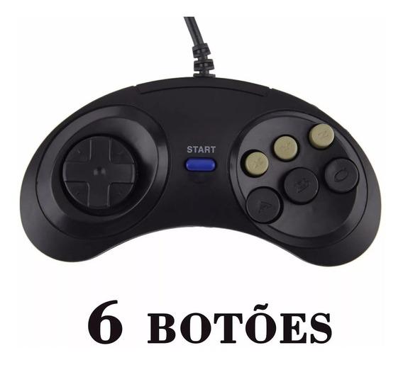 Controle Mega Drive 6 Botoes Novo Alta Qualidade