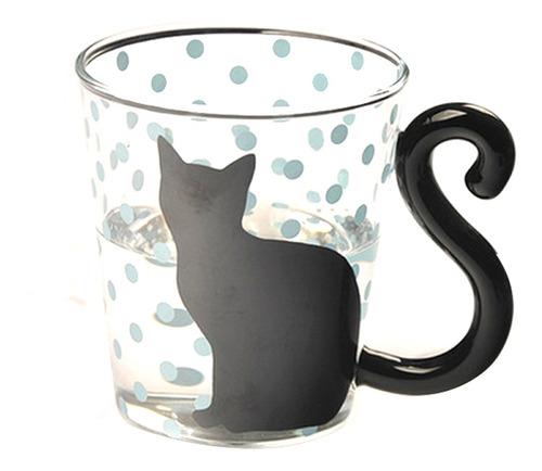 taza de caf/é resistente al calor 300 ml de MlCat bonitas huellas de gato hogar 3 tazas con dise/ño de garra de gato vidrio creativo oficina taza de caf/é mate