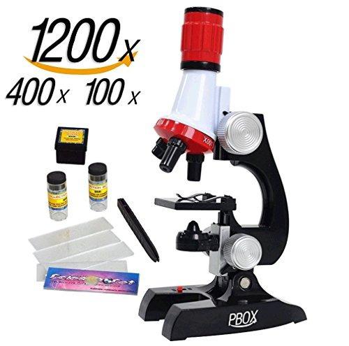Kits De La Ciencia Microscopio Juguetes Para Niños, Rojo