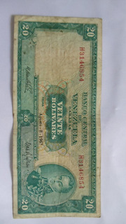 Billete De 20 Bs Año 1967