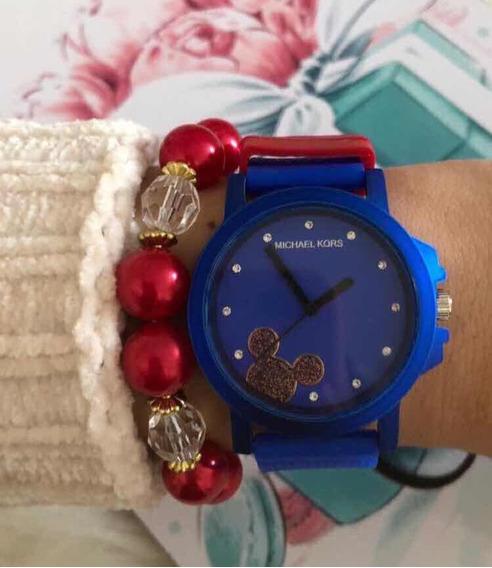 Relógio Azul Inspired Mickey