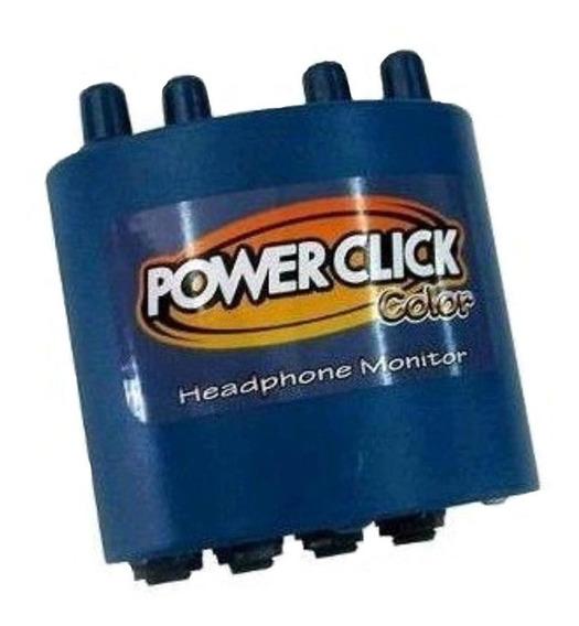 Amplificador Fone De Ouvido Power Click Color Azul