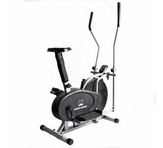 Bicicleta Fija + Caminador Eliptico Combinado Fitness Gym