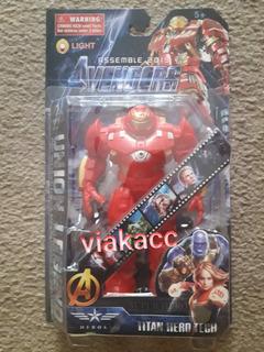 Muñecos De Avengers Hulk E Iron Man
