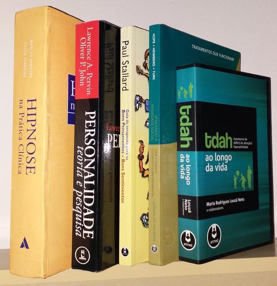 Coleção Livros De Psicologia Hipnose Tdah Terapia Ansiedade