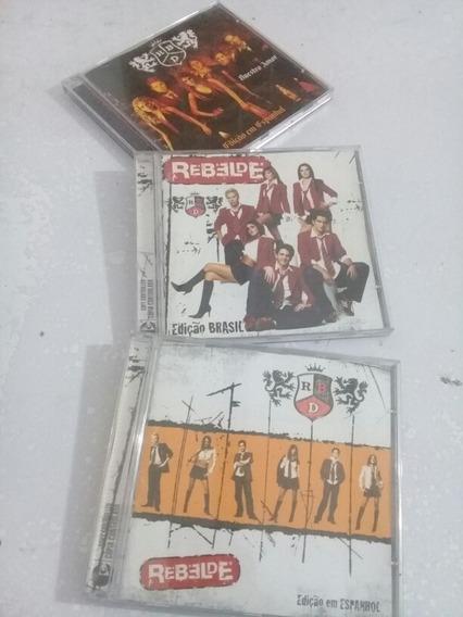 Lote Com 3 Cds Originais Rdb Rebeldes Edição Brasil/espanhol