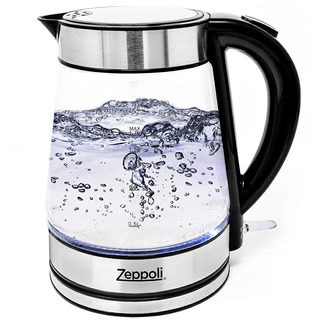 Zeppoli Electric Kettle - Glass Tea Kettle (1.7l) Fast Boili
