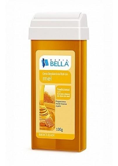 Kit Com 5 Cera Roll On Depil Bella Mel Refil 100g