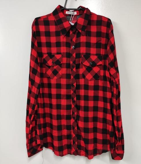 Camisa Longa Xadrez Feminina (frete Grátis Comprando 2)