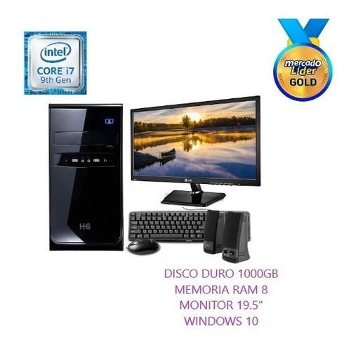 Computador Cpu Intel Core I7 9na Gen 1tb 8gb Led 20 Inc Iva