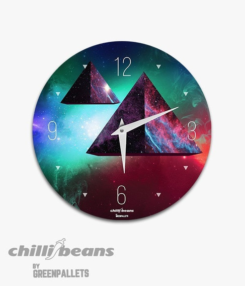 Relógio De Parede Chillibeans - Piramide