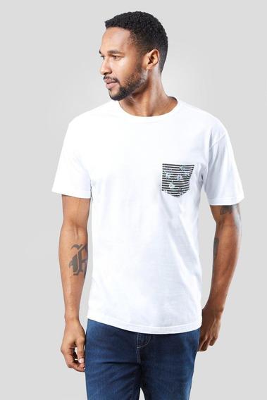Camiseta Bolso Listra Floral Reserva