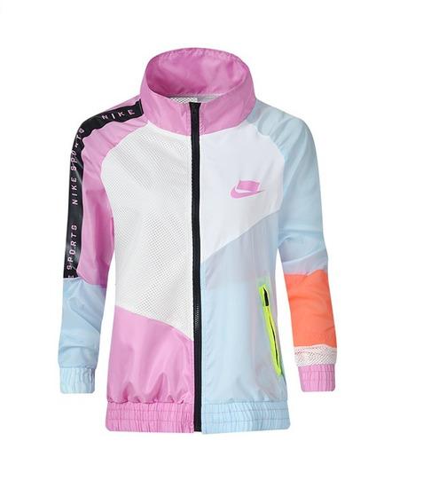 Jaqueta Corta Vento Nike Rosa Feminina Impermeável