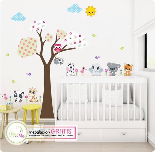 Vinilos Decorativos Infantiles Arbol Niña +instalacion Envio