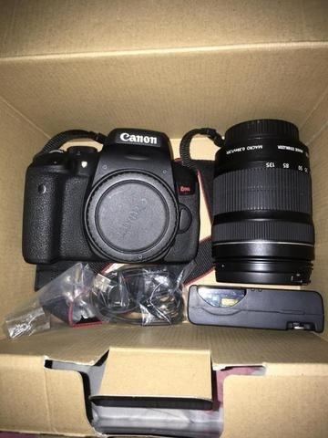 Camera Canon T6i + Lente 18-55mm+ Cartão Ultra Rapido 64 Gb
