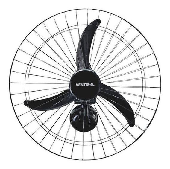 Ventilador de parede Ventisol New Comercial preto, 60cm de diâmetro 220V