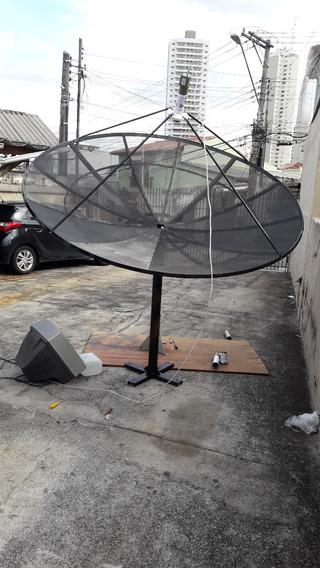 Antena Parabólica Grande 240 Cm Tela Alumio 1mm De Espessura