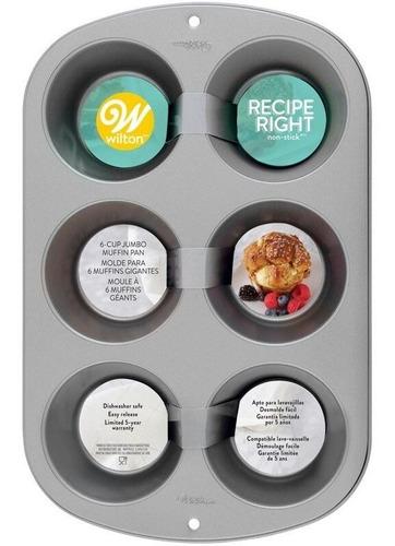 Imagen 1 de 7 de Molde Para Cupcakes Jumbo Recipe Right Wilton Titanweb