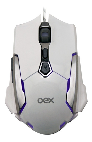 Mouse Gamer Oex Robotic Ms308 4000dpi Led Macro E Software