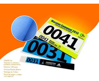 Numeros Impresos Carrera Maratón Triatlon Ciclismo Ecólogicos Deporte Extremo Moto Hipodromo Caballería Diseño De Numero