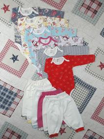 Kit Com 6 Conjuntos De Body Com Mijão Menina - P -