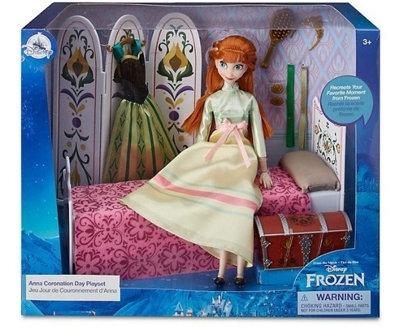Playset Disney Store Boneca Anna Frozen Coronation Day